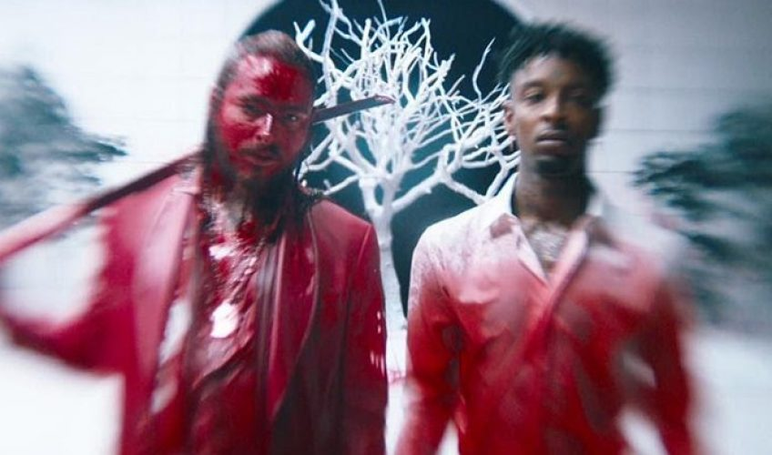 Post Malone και 21 Savage σε ένα αιματηρό video clip για το «rockstar»