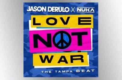 """Ο πολύ-πλατινένιος παγκόσμιος superstar Jason Derulo ενώνει τις δυνάμεις του με τον Nuka για την κυκλοφορία ενός ολοκαίνουριου single με τίτλο """"Love Not War""""."""
